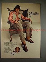 1971 Dingo Boots Ad w/ Joe Namath in Armchair, NICE!!