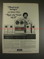 1971 AKAI 1730D-SS-1 Tape System Ad w/ Quincy Jones!!