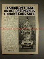 1973 Volvo Car Ad, Shouldn't Take an Act of Congress!!