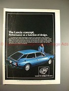 1978 Lancia Car Ad, Performance as Function of Design!