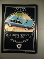 1979 Lancia Car Ad, A History of Excellence Since 1906!