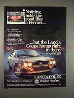 1981 Lancia Coupe Ad - Nothing Holds Road Like Ferrari!