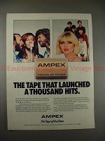 1980 Ampex Tape Ad with the Bee Gees & Blondie - NICE!!