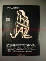 1980 original All That Jazz Movie Ad, NICE!!