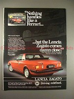 1981 Lancia Zagato Car Ad - Nothing Like a Ferrari!!