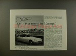 1959 Citroen DS19 DS-19 Car Ad - A Must in Europe