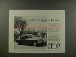 1961 Citroen DS19 DS-19 Car Ad - A Must in Europe