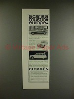 1966 Citroen DS-21, Station Wagon, Ami-6 Wagon Car Ad