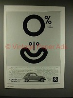 1987 Citroen 2CV Bamboo Car Ad - 0% APR Finance
