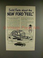 1949 Ford Car Ad - Solid Facts About New Ford Feel