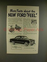 1949 Ford Car Ad - More Facts About New Ford Feel