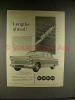1958 Ford Consul De Luxe Car Ad - Lengths Ahead