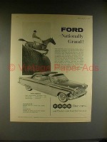 1958 Ford Zodiac Convertible Car Ad - Nationally Grand