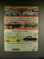 1958 Ford Consul, Zodiac, Zephyr Car Ad, At Earls Court