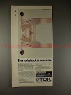 1982 TDK Tape Ad w/ Stevie Wonder, Playback is Encore!!