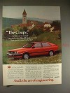 1982 Audi Coupe Ad - Named Best Sports Coupe for 80s!!