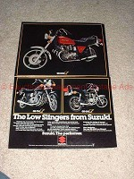1979 Suzuki 2-page Low Slinger Motorcycle Ad, NICE!!