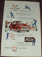 1946 Ford Car Ad, Ford's Out Front NICE!!