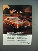 1977 Lincoln Continental Car Ad - Judge by Standard