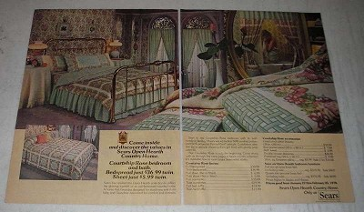 1978 sears open hearth country home furnishings ad 19 pages for Country home and hearth