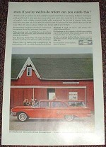 1960 Chevrolet Red Kingswood Wagon Ad, NICE!!