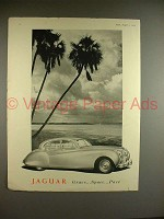 1954 Jaguar Car Ad - Grace, Space, Pace