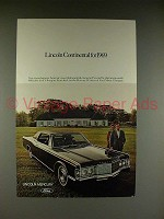 1969 Lincoln Continental Car Ad - NICE!