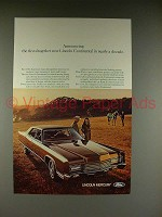 1970 Lincoln Continental Car Ad -First New in a Decade