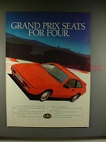 1986 Lotus Excel SE Car Ad - Grand Prix Seats for Four