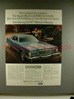 1977 Mercury Marquis Car Ad - Year to Compare