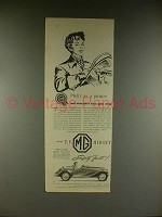 1954 MG T.F. Midget Car Ad - Pretty as a Picture