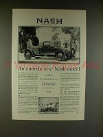 1927 Nash Special Six Cabriolet Car Ad - Entirely New