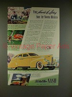 1939 Nash 4-door Sedan Car Ad - The Hounds of Springs