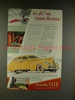 1939 Nash 4-door Sedan Car Ad - Ho! For Stormy Weather!