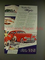 1940 Nash 4-door Sedan Car Ad - Weather Eye Magic