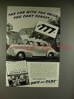 1939 Oldsmobile Sixty Car Ad - Price You Can't Forget