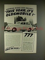 1939 Oldsmobile 60 2-door Sedan Ad - Rides & Decides