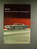 1965 Oldsmobile Starfire Car Ad - Let Yourself Go