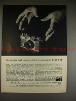 1958 Nikon SP Camera Ad - Comes to Life in Your Hands!!