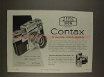 1959 Contax Camera Ad - Superb Optics, Dependability!!