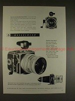 1959 Hasselblad Super Wide Superwide C Camera Ad, NICE!