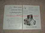 1960 2pg Hasselblad Camera Ad - How Many Cameras, NICE!