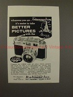 1957 Aires 35-IIIL Camera Ad - Wherever You Go, Easier!