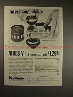 1959 Aires V f:1.9 Camera Ad - Interchangeability!!