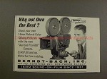 1955 Auricon Pro-600 Movie Camera Ad - Own the Best!!