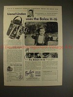 1950 Bolex H-16 Movie Camera Ad with Lionel Lindon!!