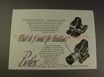 1952 Bolex Stereo Movie Camera Ad - Want for Christmas!