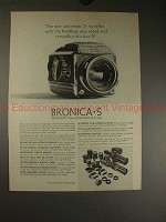 1962 Zenza Bronica S Camera Ad - Handling Ease, Speed!!
