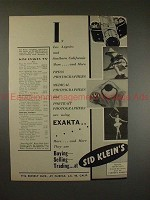 1953 Exakta VX Camera Ad - Press, Medical, Portrait!!