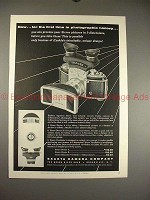 1956 Ihagee Exakta Camera Stereo Unit Ad - First Time!!
